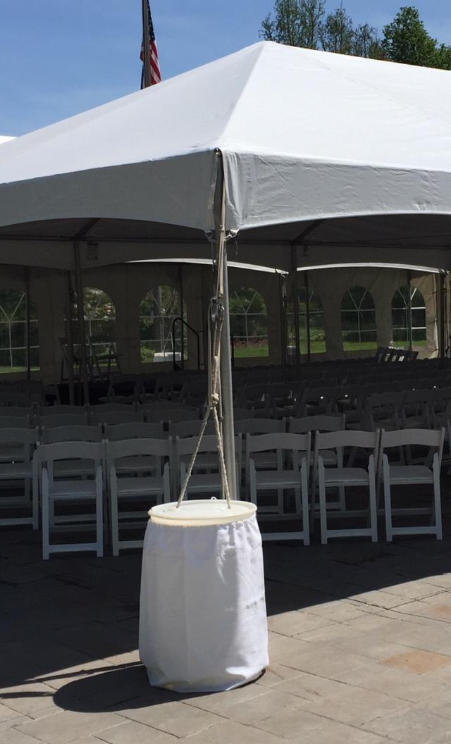 Where to rent White Drawsting Barrel Wrap in Haslett, Okemos, East Lansing and Greater Lansing