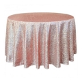 Rental store for 120  Round Blush Gold Sequin Linen in Lansing MI