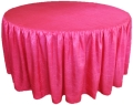 Rental store for 117  RD Hot Pink Crinkle Satin Linen in Lansing MI