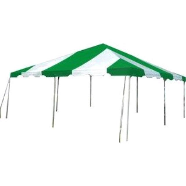 Where to rent Canopy, 20 X20  Green Stripe FOR SALE in Haslett, Okemos, East Lansing and Greater Lansing