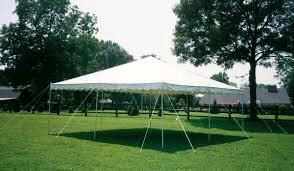 Canopy 20 Foot X 20 Foot White Client Sets Up Rentals