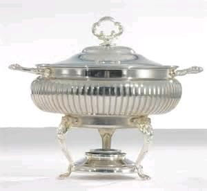Where to rent Chafer, 8QT Round Ornate Silver in Haslett, Okemos, East Lansing and Greater Lansing
